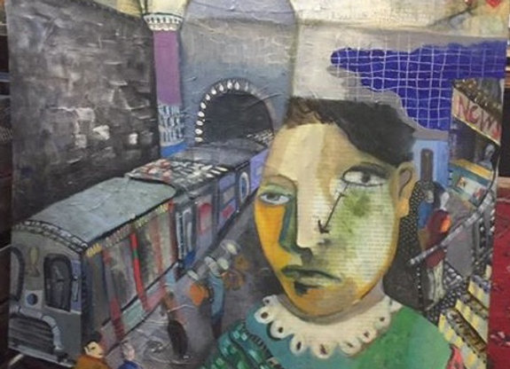 Untitled, Subway with baby