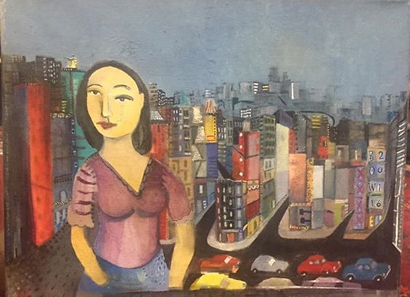 Untitled woman in city