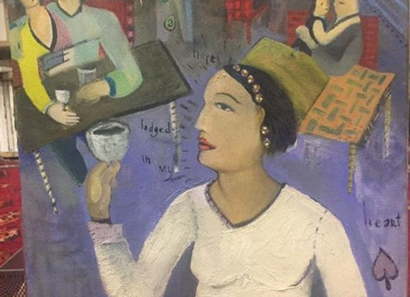 Untitled woman in cafe