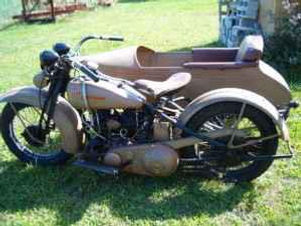 1930's Harley Davidson with Sidecar