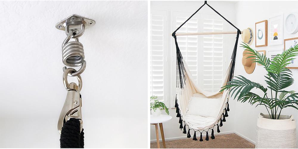Installed hanging/hammock chair