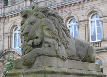Lion peace outside victoria hall