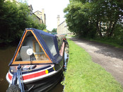 Canal barge at Saltaire