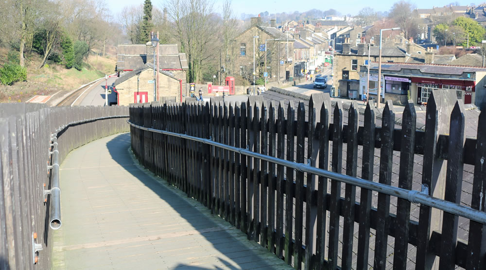 Ramp to Haworth station
