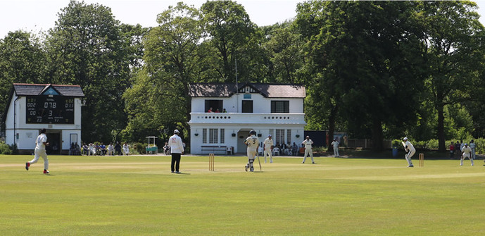 Saltaire cricket pitch