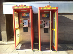 Pair of Telephone Boxes