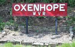 Oxenhope station sign
