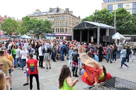 Gay pride Bradford 2019 stage