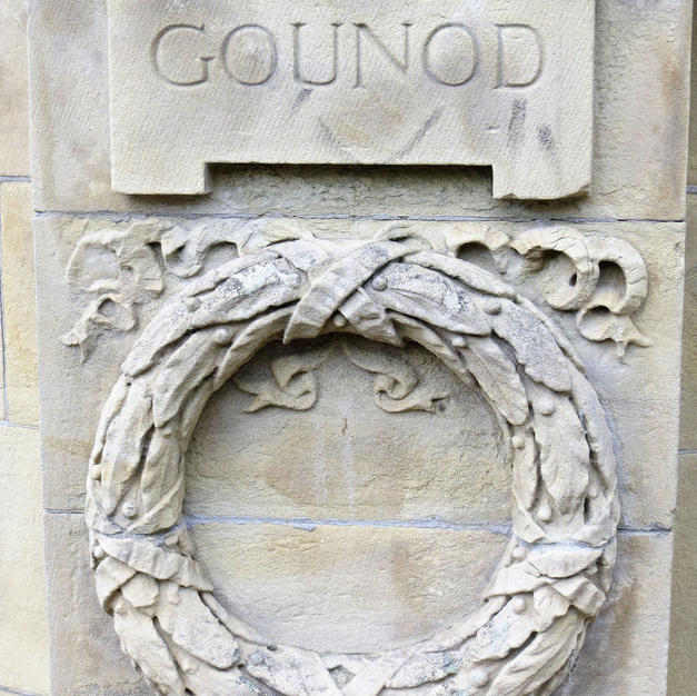 banstand  relief carving of Grounod