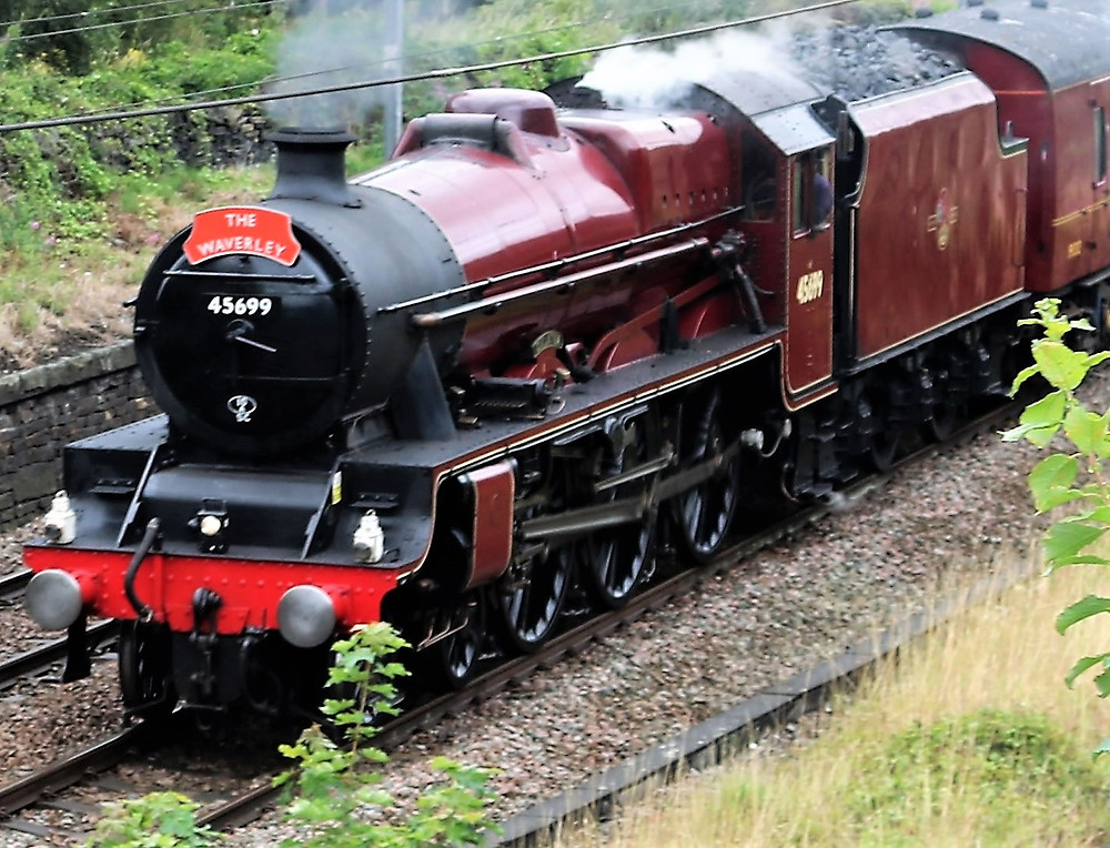 45699 was designed by LMS Chief Mechanical Engineer William Stanier, built at Crewe Works as LMS 5699 in April 1936 and withdrawn from service by British Railways as 45699 in November 1964.