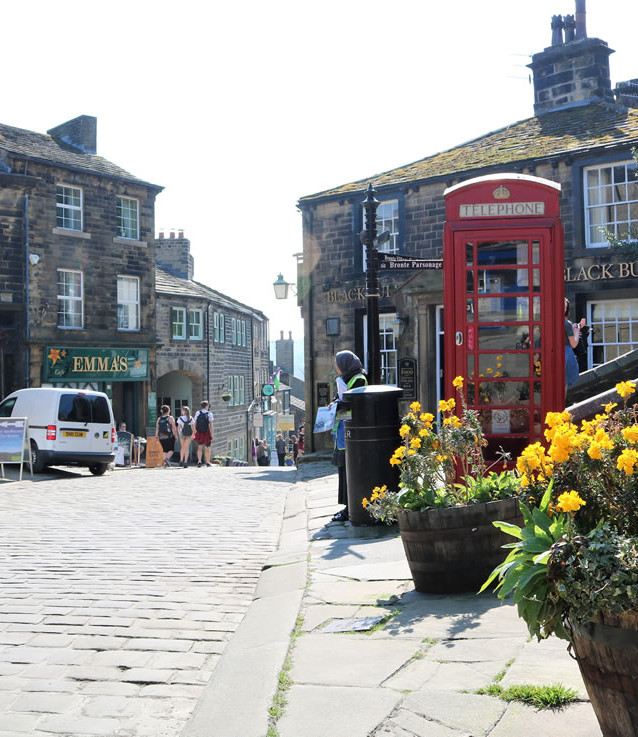 Top of Haworth mainstreet