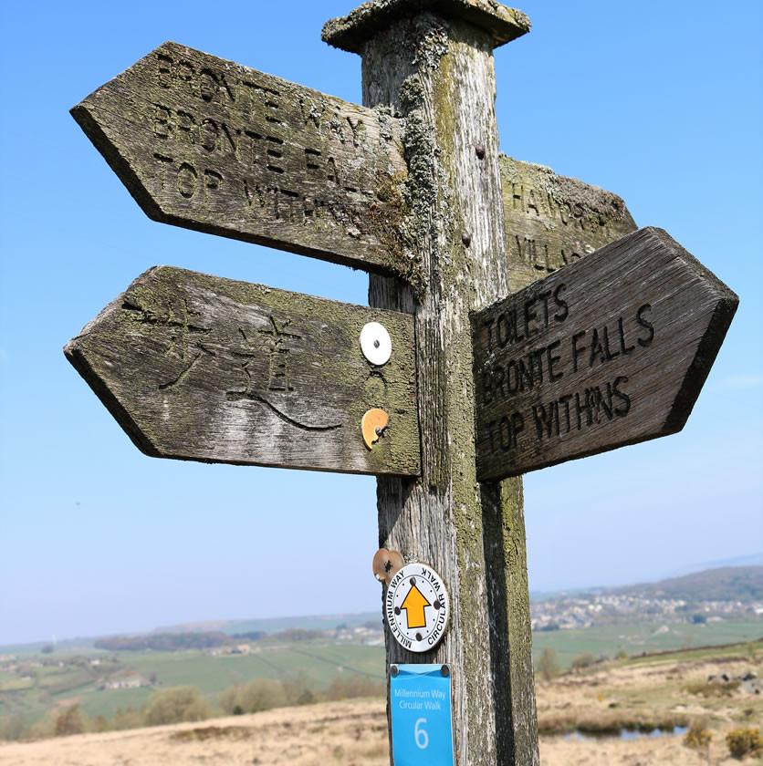 Bronte falls sign