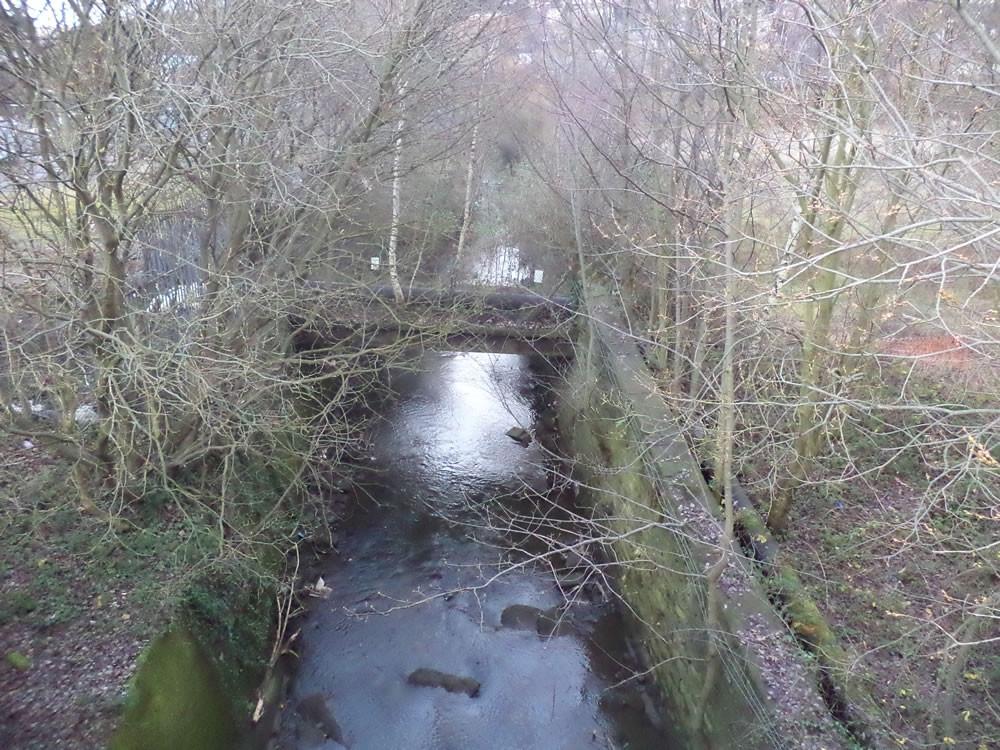 Bradford Beck flows under the canal