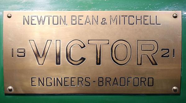Linton Engine Victor Plaque