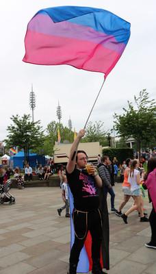 Gay pride flag Bradford