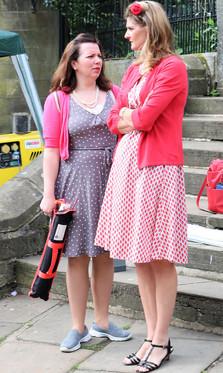 2 women is period dress Haworth 1940s