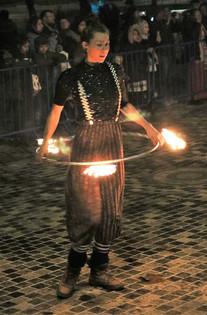 hoop fire display