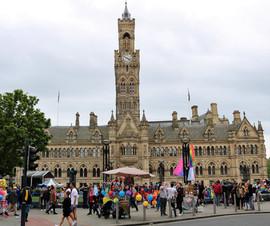 Gay Pride City Hall Bradford