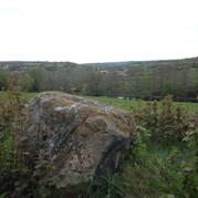 Large rock hill backdrop