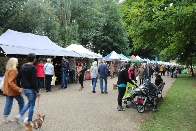 Stalls at Saltaire festival