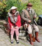 Couple in Period costume Haworth 1940s
