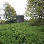 Railway tunnel circular ventilation chimney.