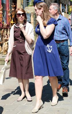 2 Ladies dressed 1940s