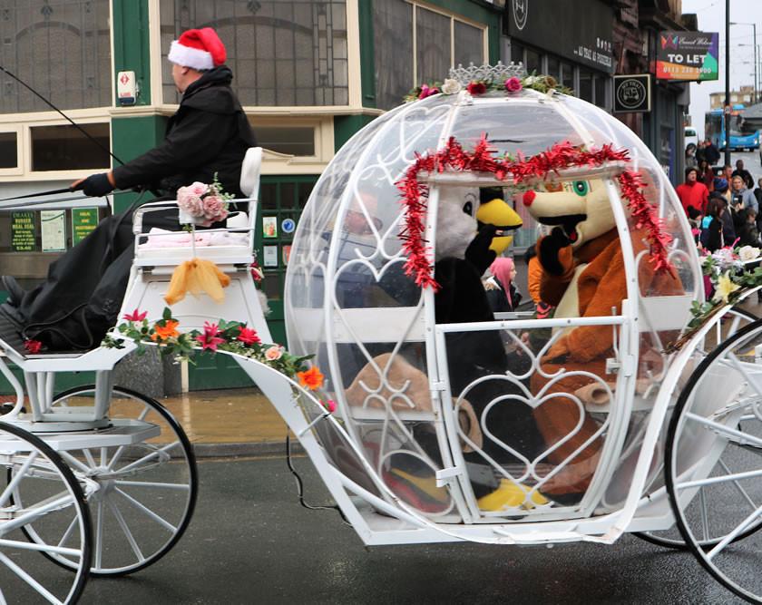 Rudolph Christmas themed carriage Bradford 2019