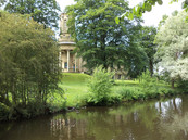 Saltaire church by canal