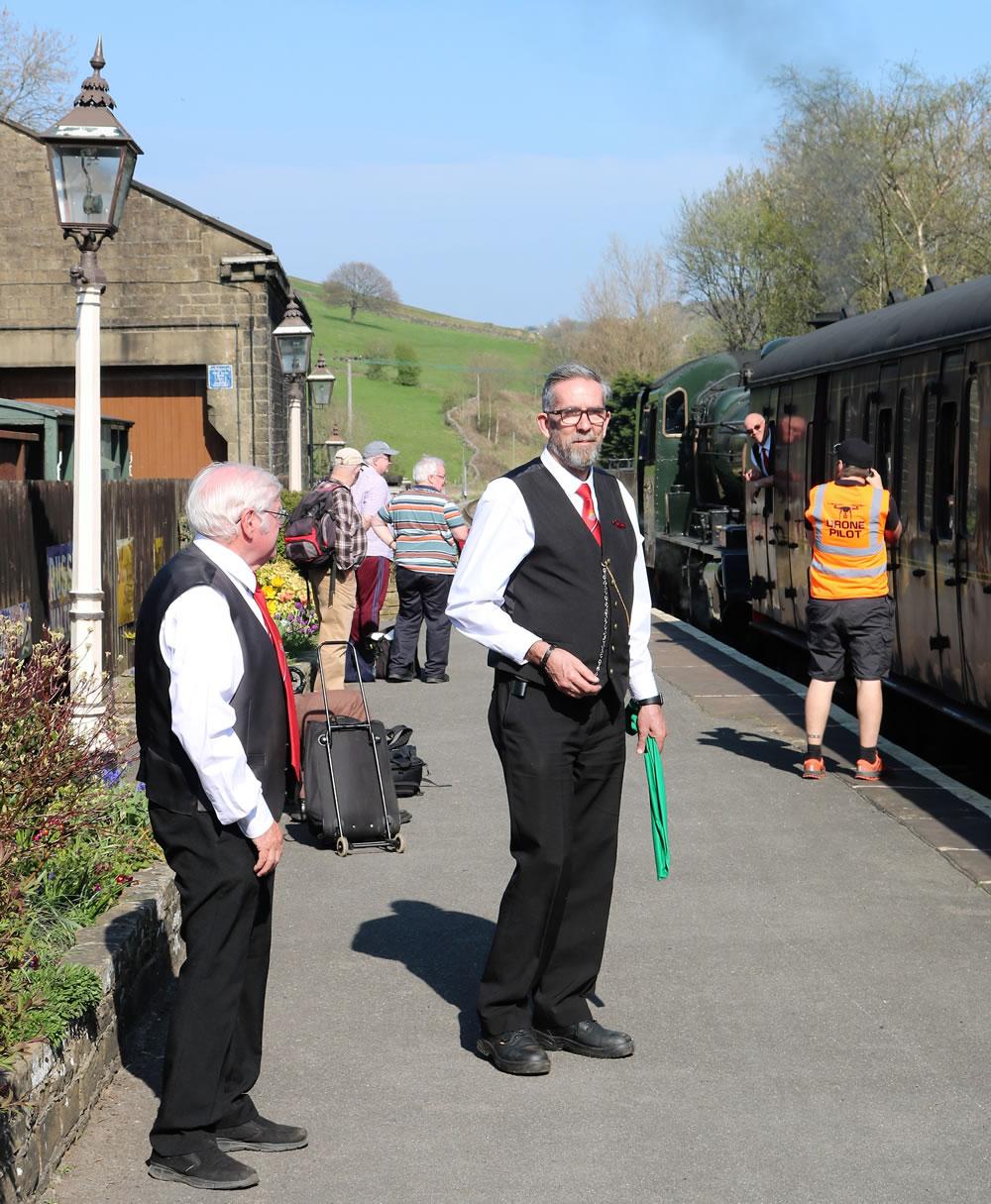 Station masters Oakworth station