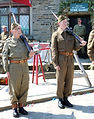 Home guard on parade