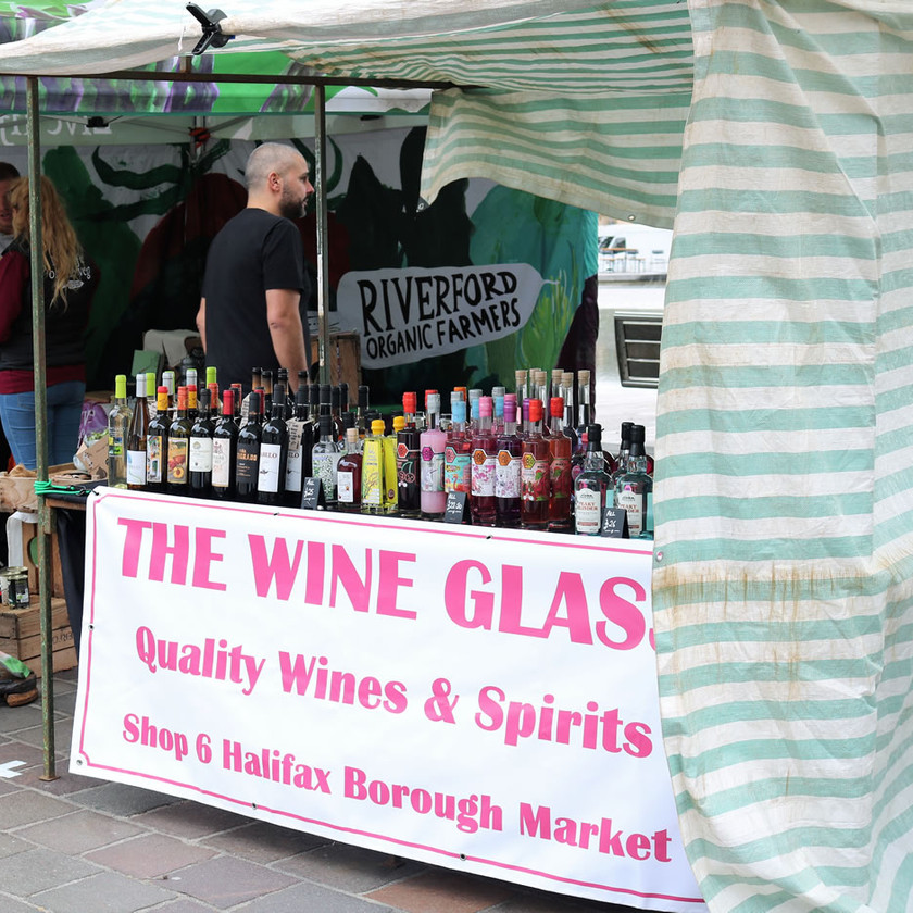 Wine by the glass Bradford food festival 2019