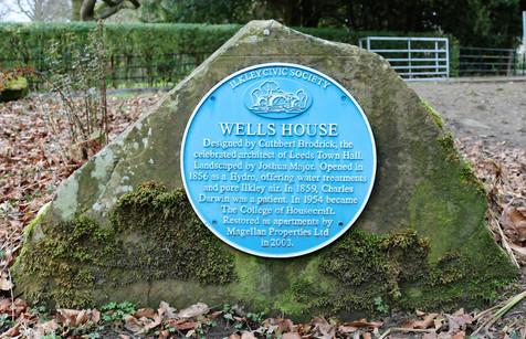 Wells House Blue plaque