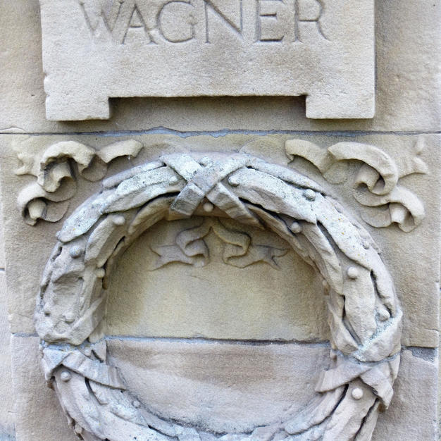 banstand  relief carving of Wagner