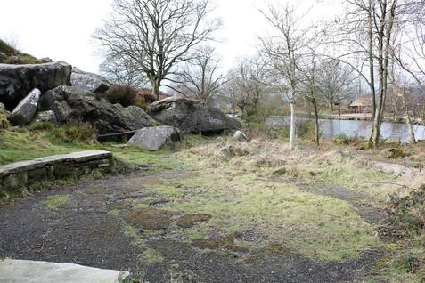 Rocks Ilkley Tarn