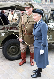 Military costumes for these reenactors Haworth 1940s
