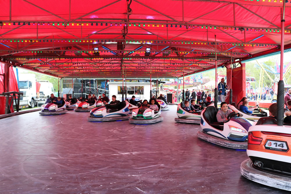 Having fun on the dodgems