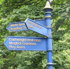 Lister Park signpost