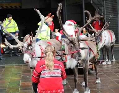 Santa and reindeer Bradford 2019