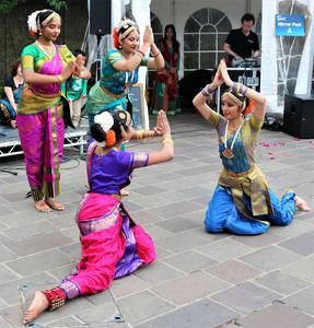 dancing on the rim of the brass plates by Abhinandana Kodanda and dancer
