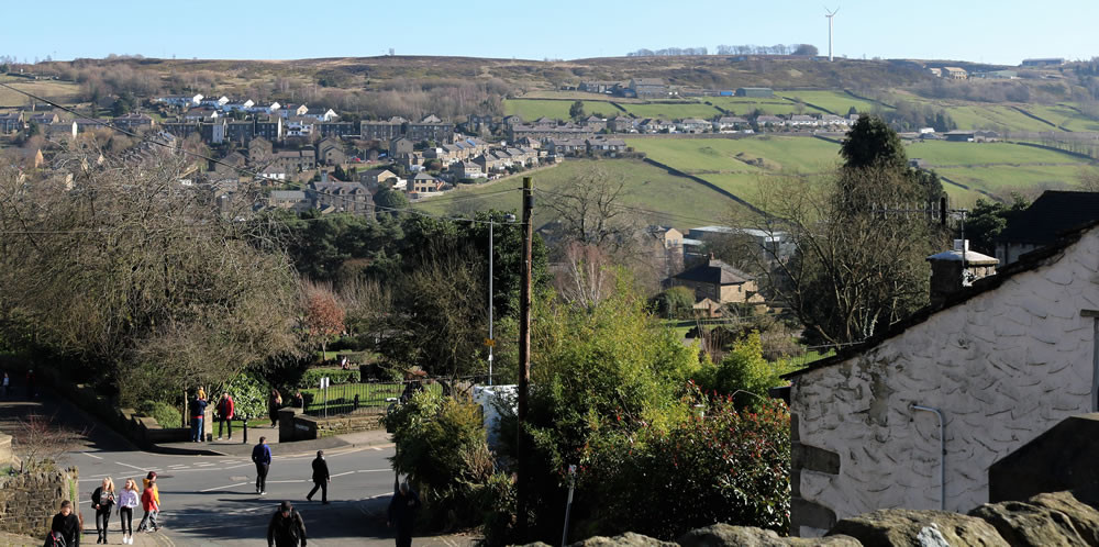 View from Haworth main street