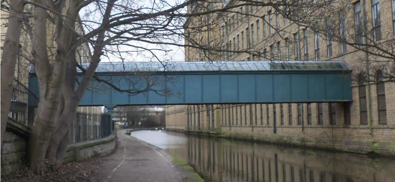 Saltaire mill footbridge