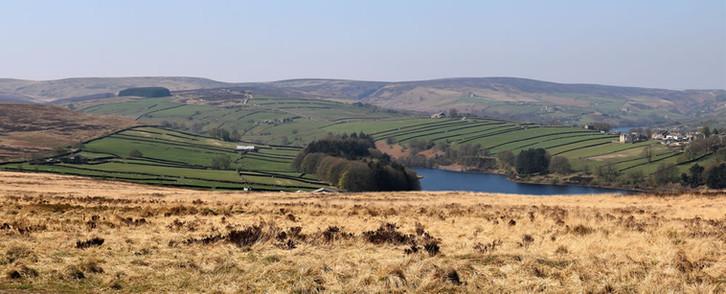 Lower Laithe Reservoir near the Brontë beauty spot of Haworth.