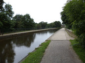 Seven Arches Aqueduct crossing the River Aire