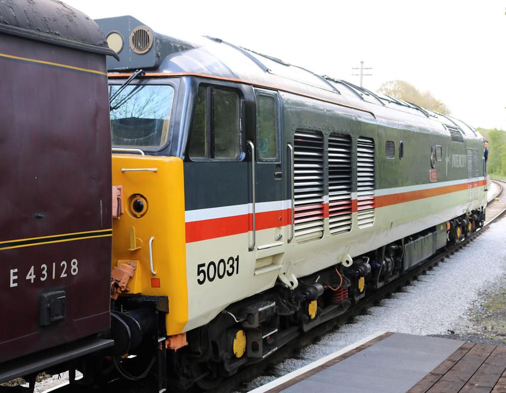 50031 Hood is a BR Class 50 diesel locom