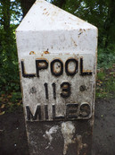 Liverpool canal marker 113 miles