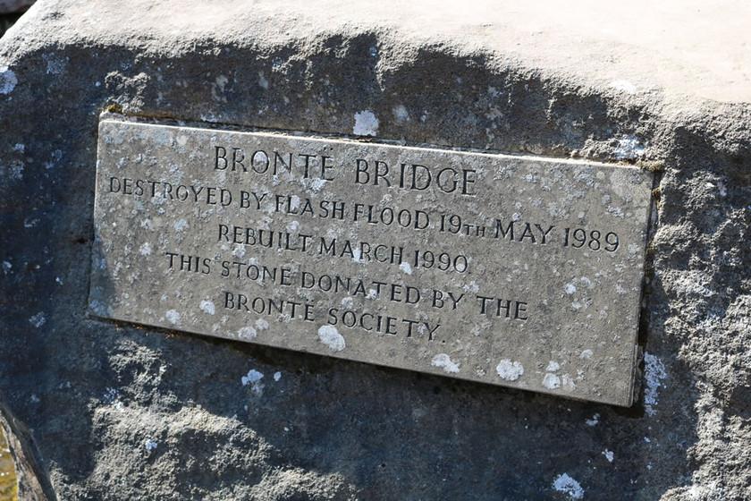 Bronte bridge plaque