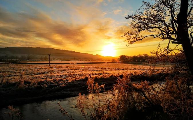 Landscape photograph Sunrise