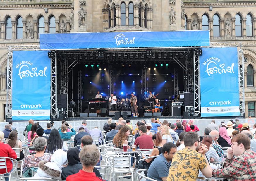 Bradford festival stage