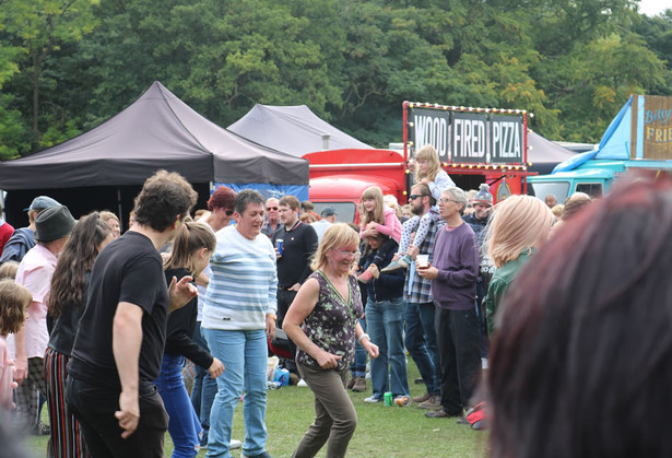 Visitors to Saltaire festival